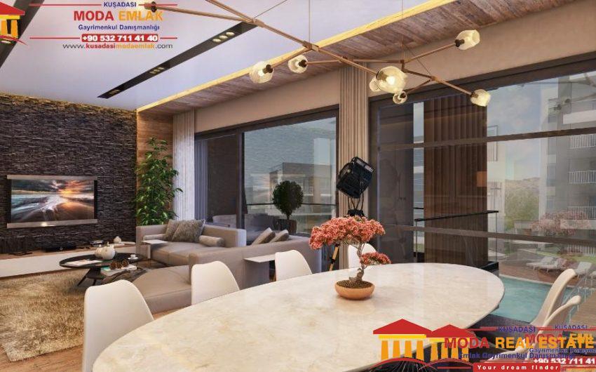 New development of apartments in Kusadasi Center